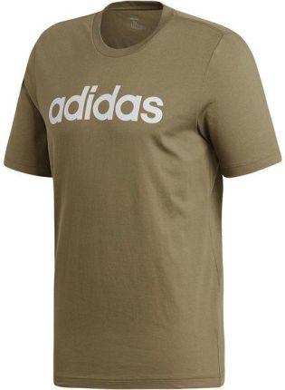 7a9693c20e74c Koszulka męska Essentials Linear Logo Adidas (green white)