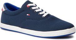 7814b7fa7e7e9 Tenisówki TOMMY HILFIGER - Essential Oxford Textile Sneaker FM0FM02052  Midnight 403 eobuwie