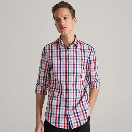 2130eeb93423 Reserved - Koszula w świąteczny wzór - Granatowy - męska - Ceny i ...