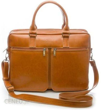 Skórzana torba na ramię, laptopa Solier SL01 DUNDEE Jasny Brąz Ceny i opinie Ceneo.pl