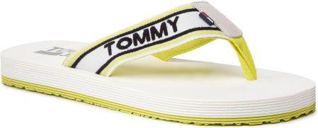 56e055c20ddbe Japonki TOMMY JEANS - Stripe Tommy Jeans Beach Sandal EM0EM00218 Limeade  309 eobuwie