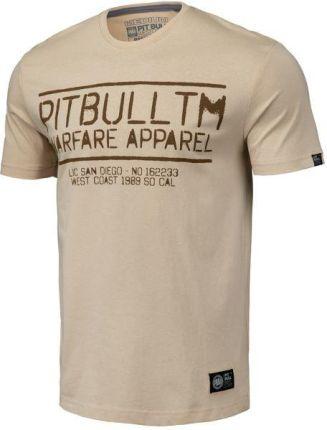 Koszulka Pit Bull Warfare'19 - Piaskowa (219015.2500) - Ceny i opinie T-shirty i koszulki męskie LSTW