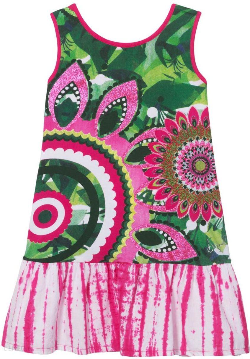 8bdf0c7a32 Desigual kolorowe dziewczęca sukienka Vest Helena - 5 6 - Ceny i ...