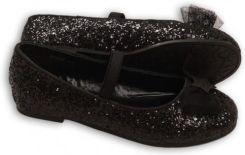 5987db22 Minoti Buty dla dziewczynki- czarne brokatowe baleriny - Ceny i ...