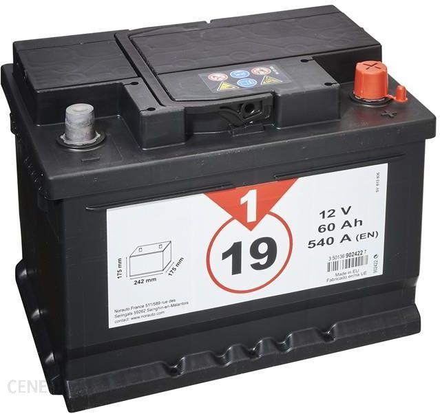 Akumulator 1 Cena 19 60 Ah 540 A Opinie I Ceny Na Ceneo Pl