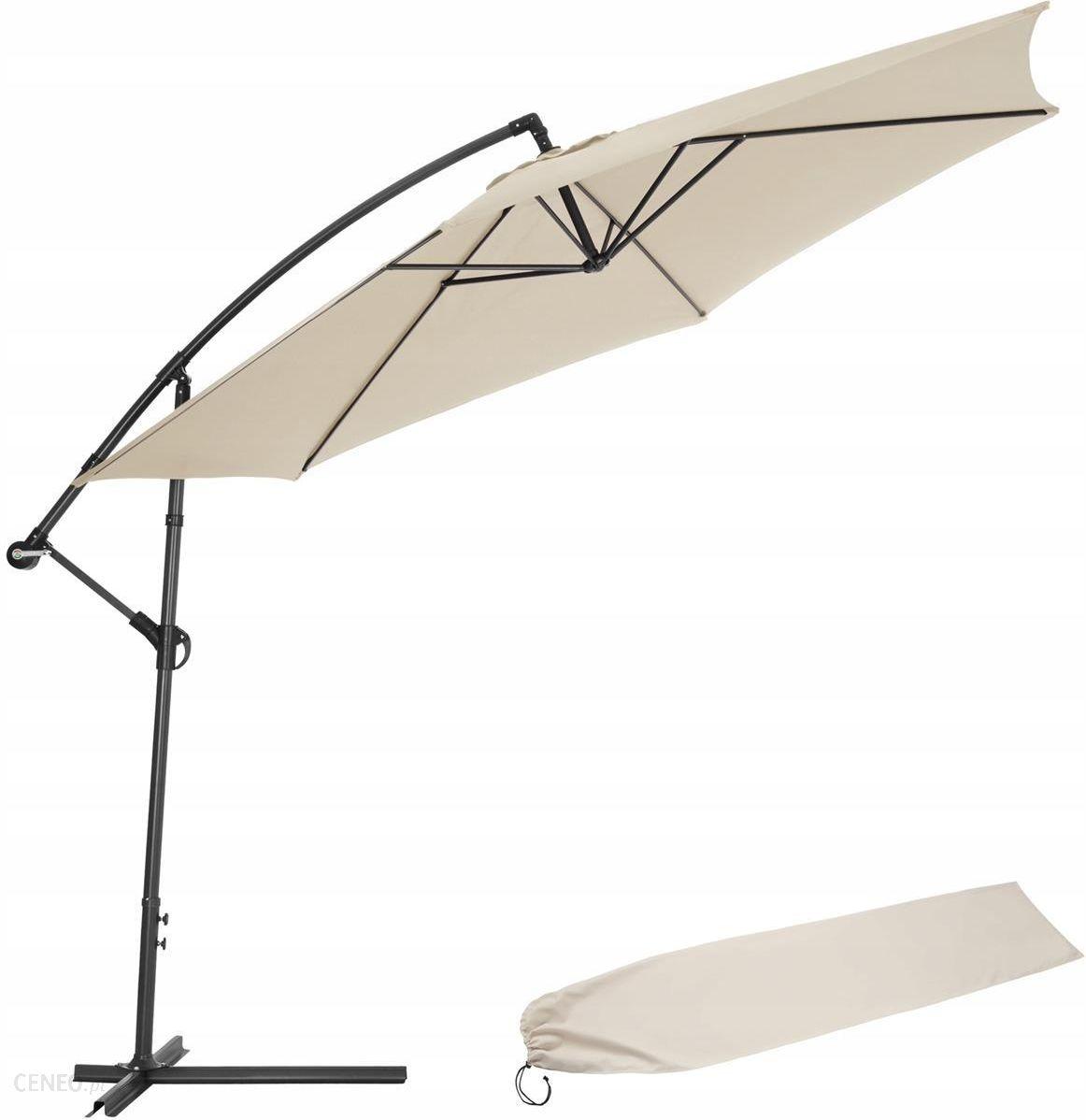 Parasol Ogrodowy Parasol Ogrodowy Na Wysiegniku 3 5 M Bezowy 400622 Ceny I Opinie Ceneo Pl