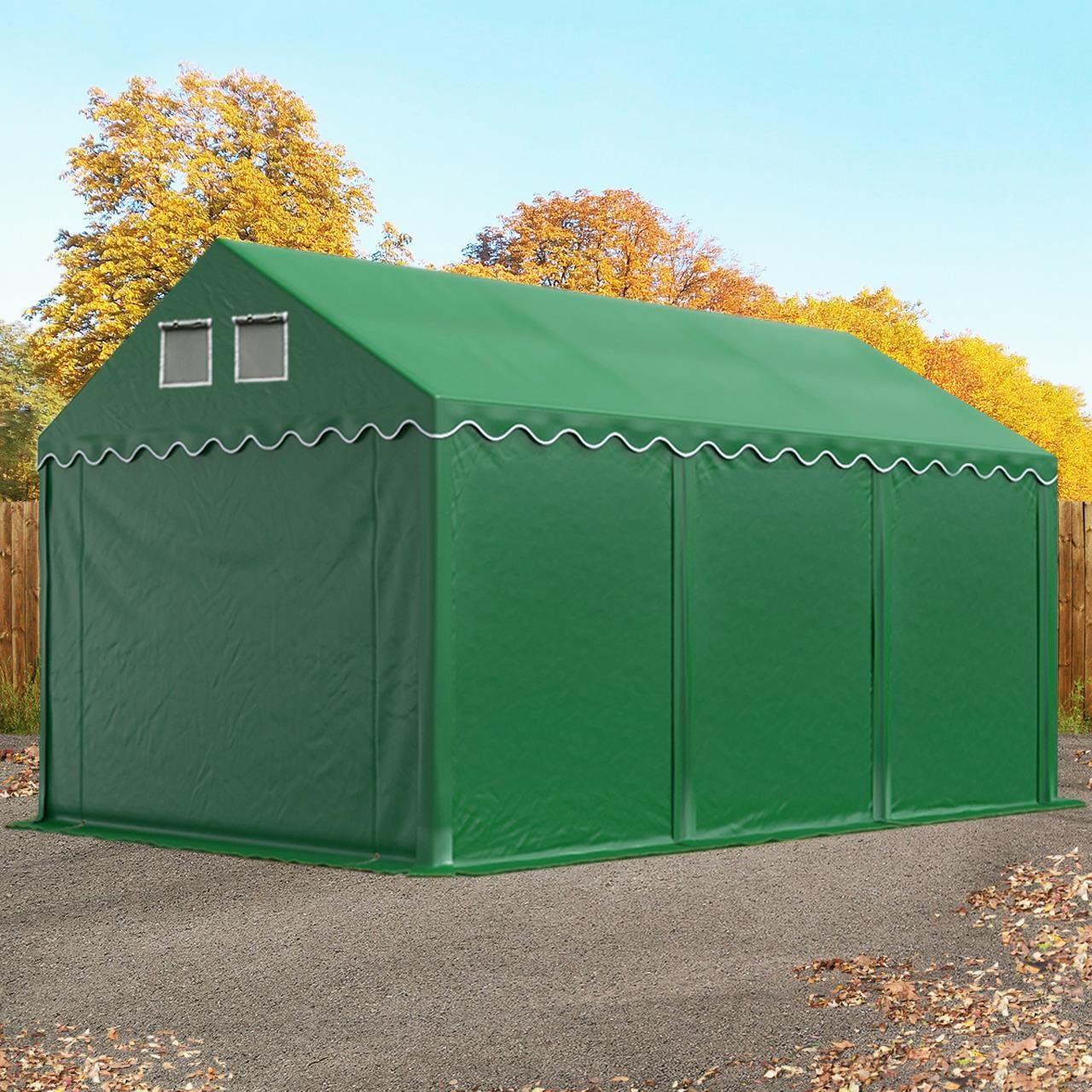 2,4x3,6m Namiot garażowy PE ciemnozielony Profinamiot