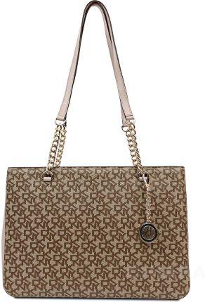 1c8729c61abf3 Lekka torba zakupowa z nadrukiem torebka damska shopperka na zamek ...