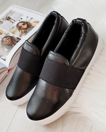 Czarne buty damskie Vans trampki Wsuwane skórzane Ceny i opinie Ceneo.pl