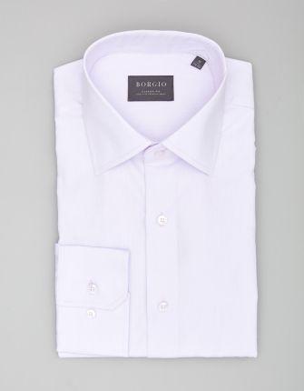 3fd05b42dfe202 BORGIO koszula lucano 00036 długi rękaw wrzos classic fit 176/182 46