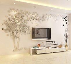 Amazon Zrób To Sam I Ogromne Drzewo 3d Tatuaże ścienne Naklejki Na ścianę Kryształowe Akrylowe Dekoracja ścienna Sztuka ścienna
