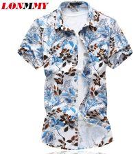 AliExpress LONMMY Plus size 6XL 2018 lato koszula mężczyzna  pWkvx