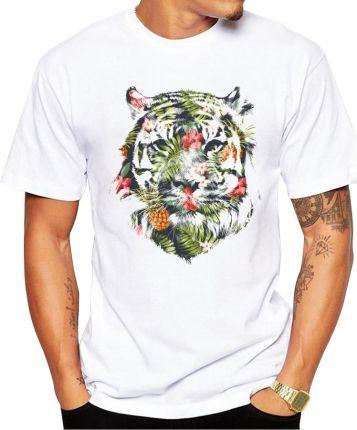 d72cc902ba AliExpress 2019 najnowszy moda drukowane Tropical tiger projekt T koszula  moda męska Hipster Fitness koszulki lato