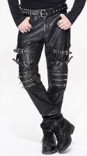 fc2cf08bc9b2e2 AliExpress 2018 diabeł moda jesień zima Steampunk Vintage mężczyźni czarny  PU spodnie skórzane Gothic Rock Punk