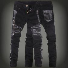 0efe282c336643 AliExpress 2019 nowych moda męski ze sztucznej skóry spodnie jeans męskie obcisłe  skórzane spodnie jeansowe męskie