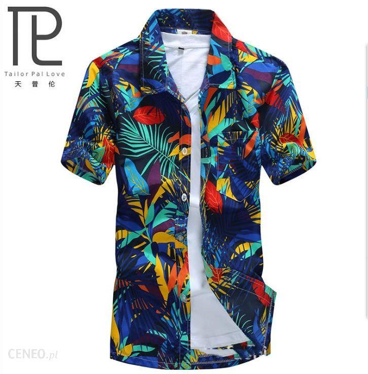 AliExpress Marka Lato Hawajski męska Hawaje koszula plażowa  78cER