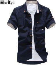 d9e2c1bfe08b6d AliExpress MarKyi plus rozmiar 5xl grzyby haft męskie krótki rękaw koszule  moda 2017 nowe letnie bawełniane