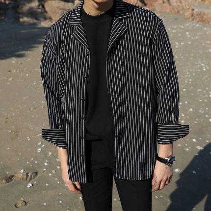 3fb71c272a88c AliExpress 2018 męska Hawajski Dorywczo Francuski Mankiet płaszcze Moda  Bawełna naszywka Drukowania ubrania Luźne Rękawy Młodzieży