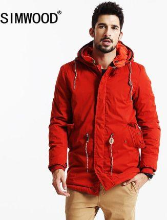03cbdb3301 AliExpress SIMWOOD 2018 Nowe Zimowe długie Płaszcze Mężczyźni Ciepłe Casual  Kurtka odzieży mody grube parki odzież