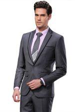 7495dfc59494c AliExpress 2019 DARO mężczyzn garnitury Slim Fit niestandardowe smokingi  szary garnitur i spodnie marka Fashion Business