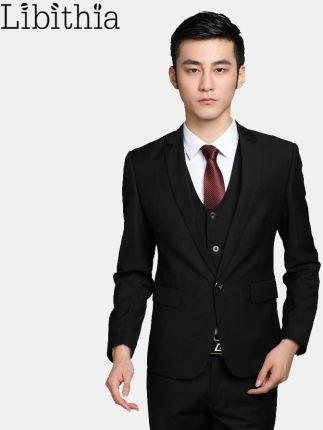 1527ae86b2c26 AliExpress (Kurtka + Spodnie + Tie) mężczyźni Sukni Garnitur Slim  Niestandardowe Smokingi Formalnych Blazer