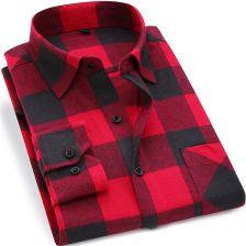 db82b5156 AliExpress Mężczyźni Kratę Flanelowa Koszula 100% Bawełna 2019 Wiosna  Jesień Casual Długi Rękaw Koszula Soft