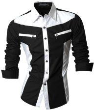 NOWY Nowy Mężczyźni Koszula Casual Slim Fit Męskie Koszule