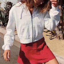 dcdc7e316f AliExpress Przycięte zamek szczupła swetry kobiety Blackpink Ariana Grande  Bt21 Got7 Bts Kpop Monsta X siedemnaście