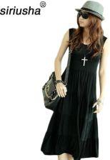 83dfa561e5 AliExpress Fabryka cena bez rękawów długa sukienka lato kobiety kamizelka w  stylu dorywczo luźne ciasto sukienka