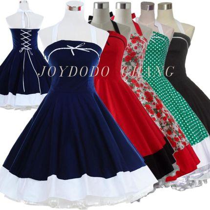 9ed02bd46c AliExpress Kobieta lato kwiatowy print retro 50 s 60 s swing szata vintage  dress grochy strona