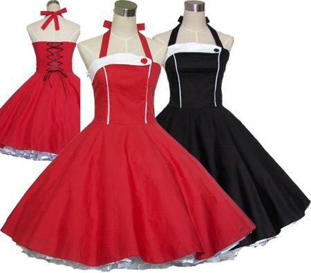 ca3a594333 AliExpress Kobiety Lato W Stylu Vintage 50 s 60 s Retro Rockabilly Sukienka  Pin up 100