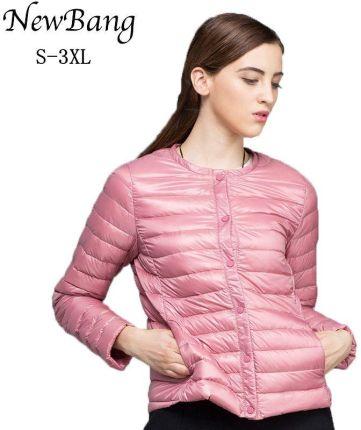 54240217e2 AliExpress NewBang marki płaszcz puchowy kobiet ultralekka kurtka puchowa  kobiet cienkie Slim wiatrówka bez kołnierz płaszcz