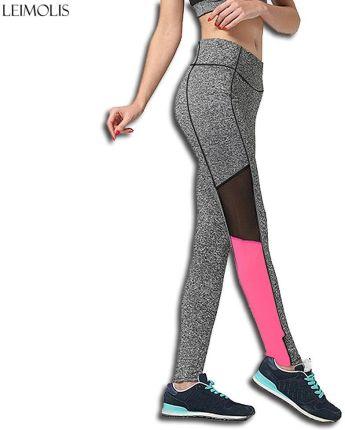 9a8ab14b4a AliExpress LEIMOLIS dorywczo treningu fitness legginsy kobiety różowy szary  mozaiki wysokiej talii push up sexy Spodnie