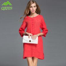 f9bfb51388 AliExpress 2018 kobiety sukienki silk topy lady bluzka loose styl jedwab  mieszane lnianą koszulę suknie połowa