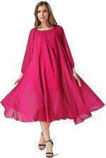 0f61f14369acf2 AliExpress Buenos Ninos Niestandardowe Kobiety Szyfonowa Długa Sukienka  Plaża Letnia Sukienka Z Długim Rękawem Luźne z