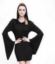 1b6629e6b0 AliExpress Steampunk sukienka damska Casual Batwing rękawem Gothic sukienka  z kapturem kobiet z długim rękawem linii