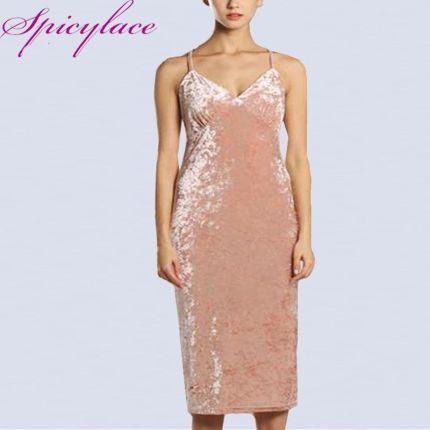 28fad5bafa AliExpress Kobiety Sexy aksamitna sukienka wysokiej jakości w stylu Vintage  Off Shoulder V-neck suknie
