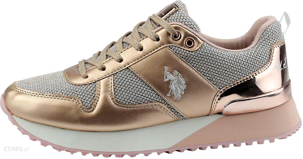 Złote sneakersy U.S. Polo Assn.