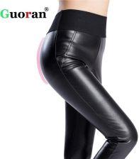431af1da68cbab AliExpress Elastyczna wysoka talia kobiety ciepłe zimowe PU skórzane spodnie  plus size 4XL czarny faux Skórzane