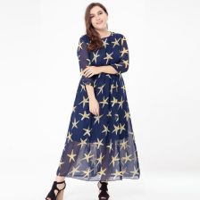 407c99312c AliExpress Femme Boho duży rozmiar tłuszczu MM elegancka szyfonowa sukienka  kobiety Vestidos L-6XL Plus