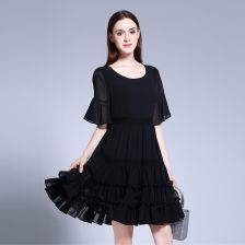 c8c1c1a7a9 AliExpress Czeski szyfonu duży rozmiar lato nowa sukienka 5xl Plus size  odzież kobiet Vestidos czarna sukienka