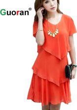 1bcf80b0a4 AliExpress  Guoran  kobiety lata szyfonu suknia plus rozmiar 5XL odzież  damska miękkie diamenty luźne