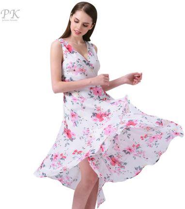 33208f8d2d AliExpress PK letnia sukienka kobiety floral plaża szyfonowa sukienka druku  v neck suknie party sexy boho