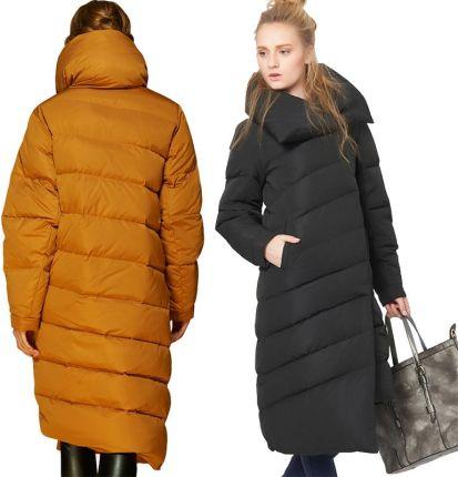 7050e68026 AliExpress EMIR ROFFER 2018 Zimowych kobiet Dół Kurtki Kobieta Projektant  Mody Asymetryczny Długi Gruby Ciepły Płaszcz