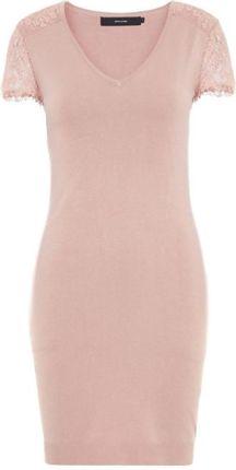 eac7197c3e Vero Moda Lassi Glory Sukienka damska z dekoltem w szpic Mist Y Rose (rozmiar  S