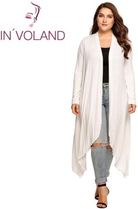 453b68005d AliExpress IN VOLAND Kobiety Cardigan Kurtka Plus Rozmiar Jesień Otwórz  Przednia Solidna Draped Pani Duże