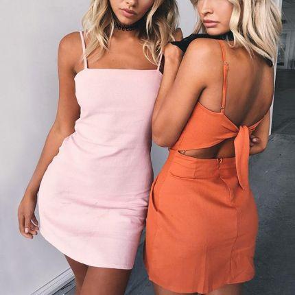 31adf7bbb7 AliExpress Summer dress 2017 kobiety sexy spaghetti strap plaża łuk sukienki  kobiety hollow out plus size