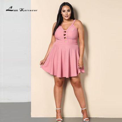 c3beeb32c2 AliExpress 2019 Party Night krótkie Mini sukienka Plus Size kobiet lato  plaża bandaż Sundress panie biurowe