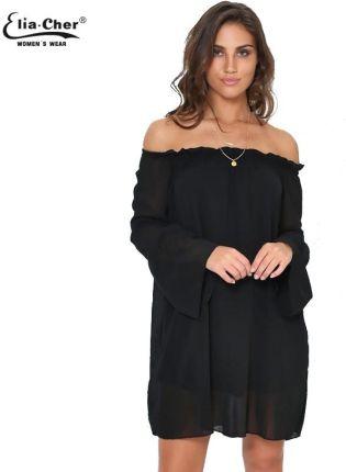 2e4fdd0be9 AliExpress Kobiety Ubierają Czarne Szyfonowe Sukienki Eliacher Marki Plus  Size Przypadkowa Kobieta Odzież Chic Sexy Party
