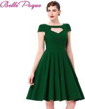 f3e7fb6935 AliExpress Krótki Rękaw Pin Up Duża Huśtawka 50 s Sukienka Lato W Stylu  Vintage zielony Czerwony